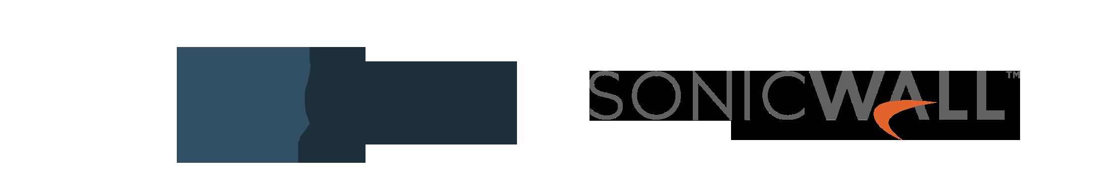 Logos de Delfos y SonicWall